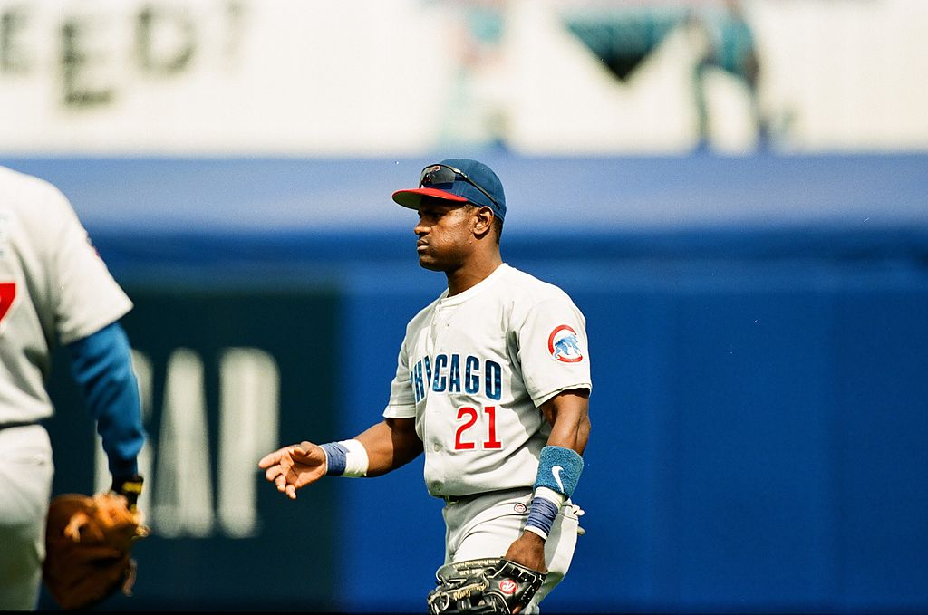 Sammy Sosa of the Chicago Cubs in 1997