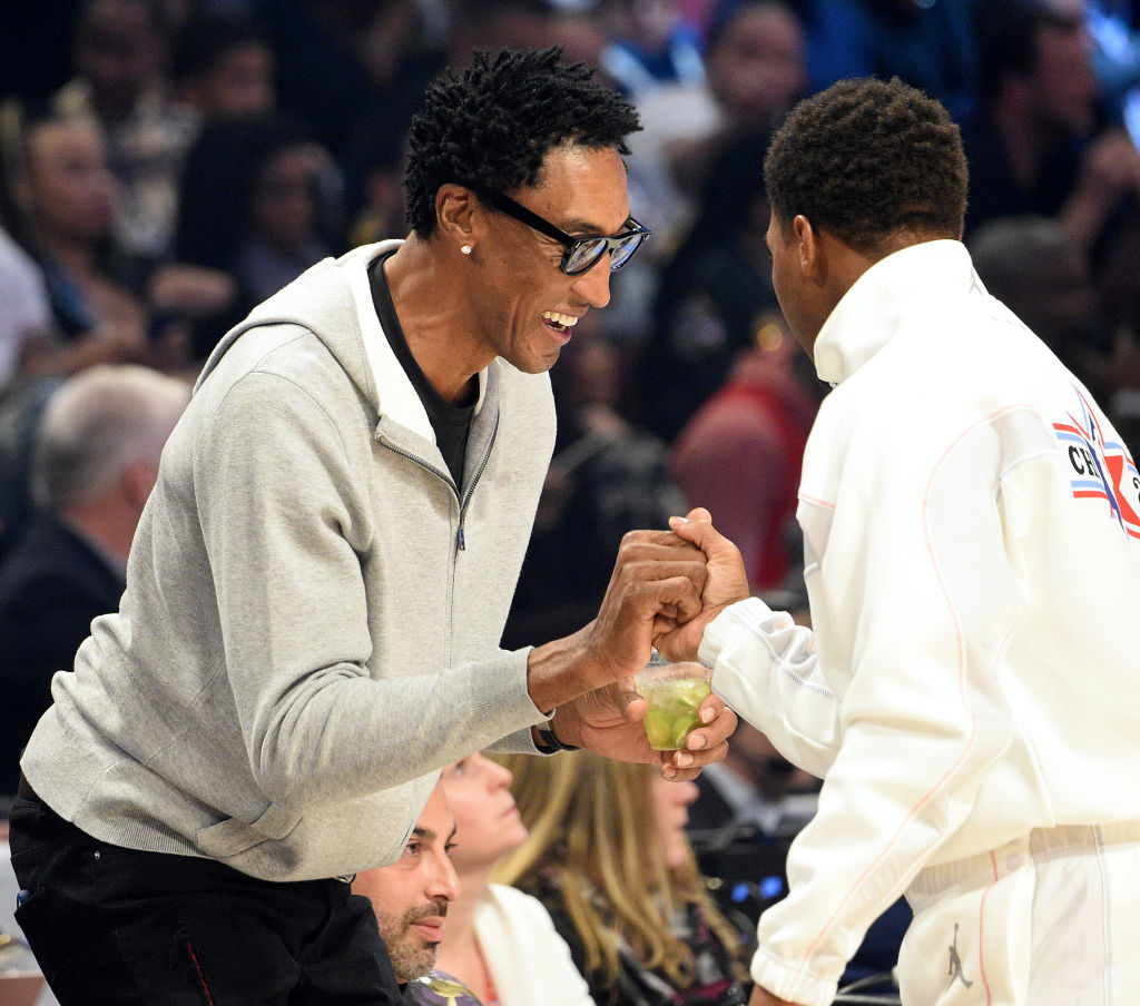 Scottie Pippen attends the 69th NBA All-Star Game