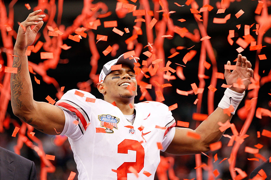 Terrelle Pryor led the Ohio State Buckeyes to victories in the Rose Bowl and Sugar Bowl. Pryor later had an extended NFL career.