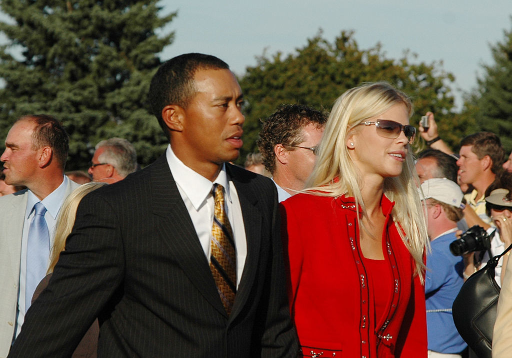 Tiger Woods and his girlfriend Elin Nordegren in 2005