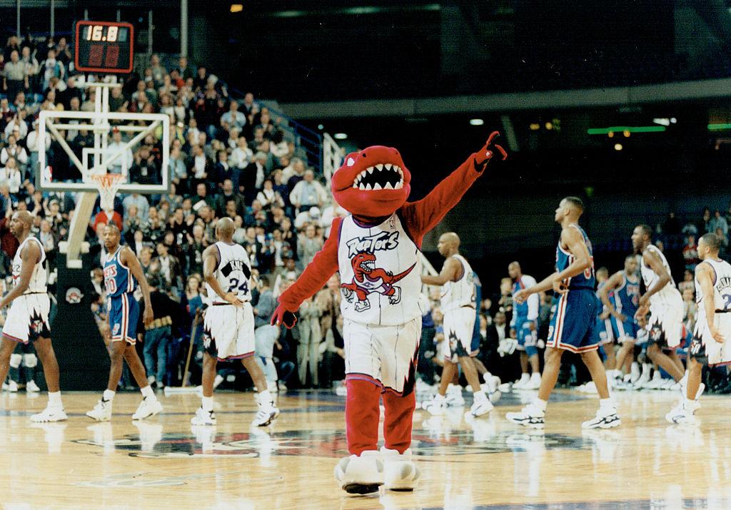 The Toronto Raptors' 1995 logo
