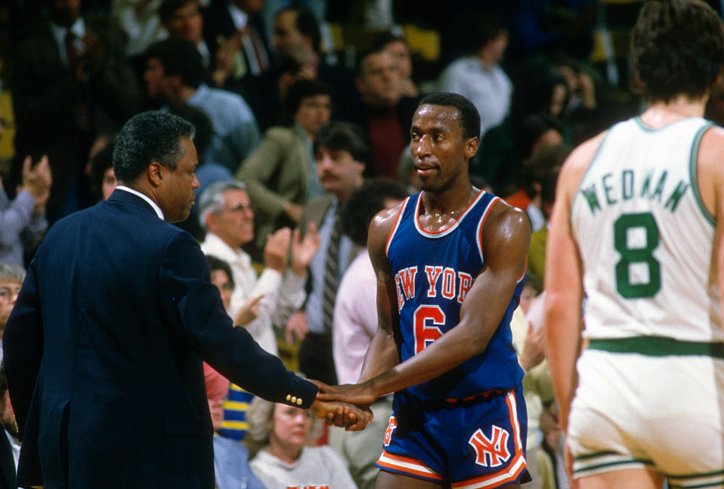 Trent Tuckers of the New York Knicks in 1985
