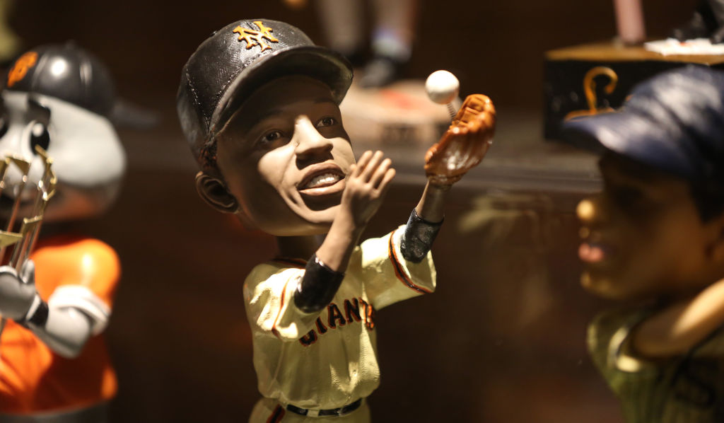 Willie Mays bobbleheads at AT&T Park