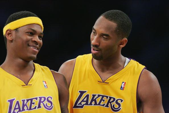 Smush Parker and Kobe Bryant