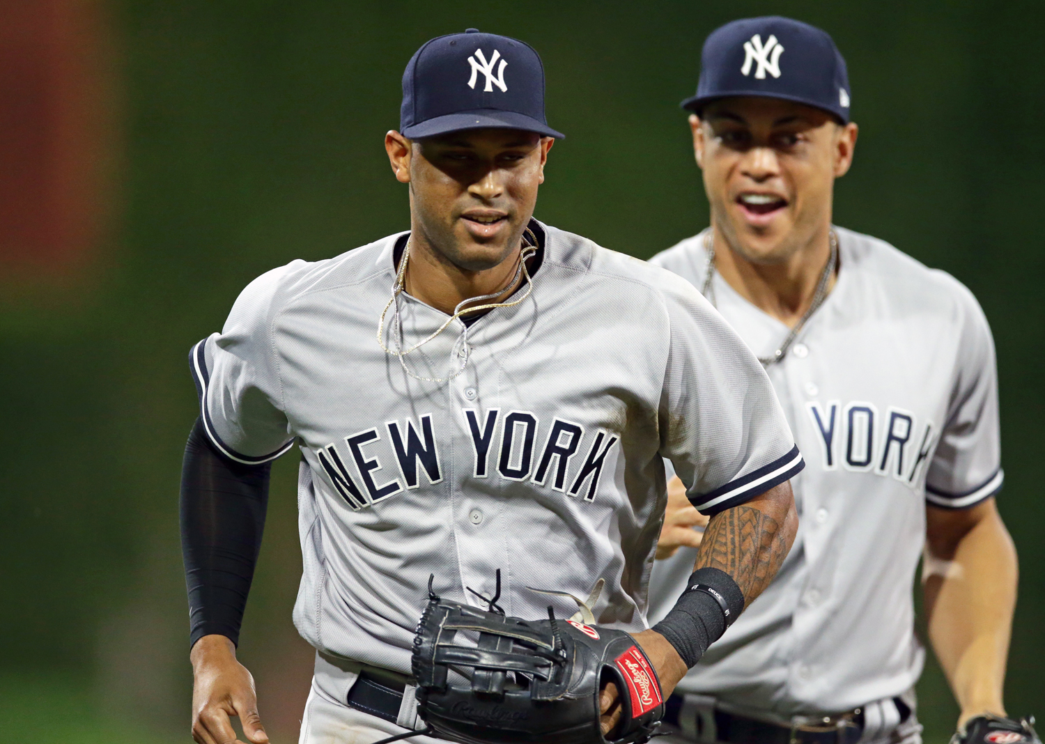 Aaron Hicks and Aaron Judge will put the Yankees at a significant advantage if both are fully healthy for the abbreviated 2020 season. | Hunter Martin/Getty Images