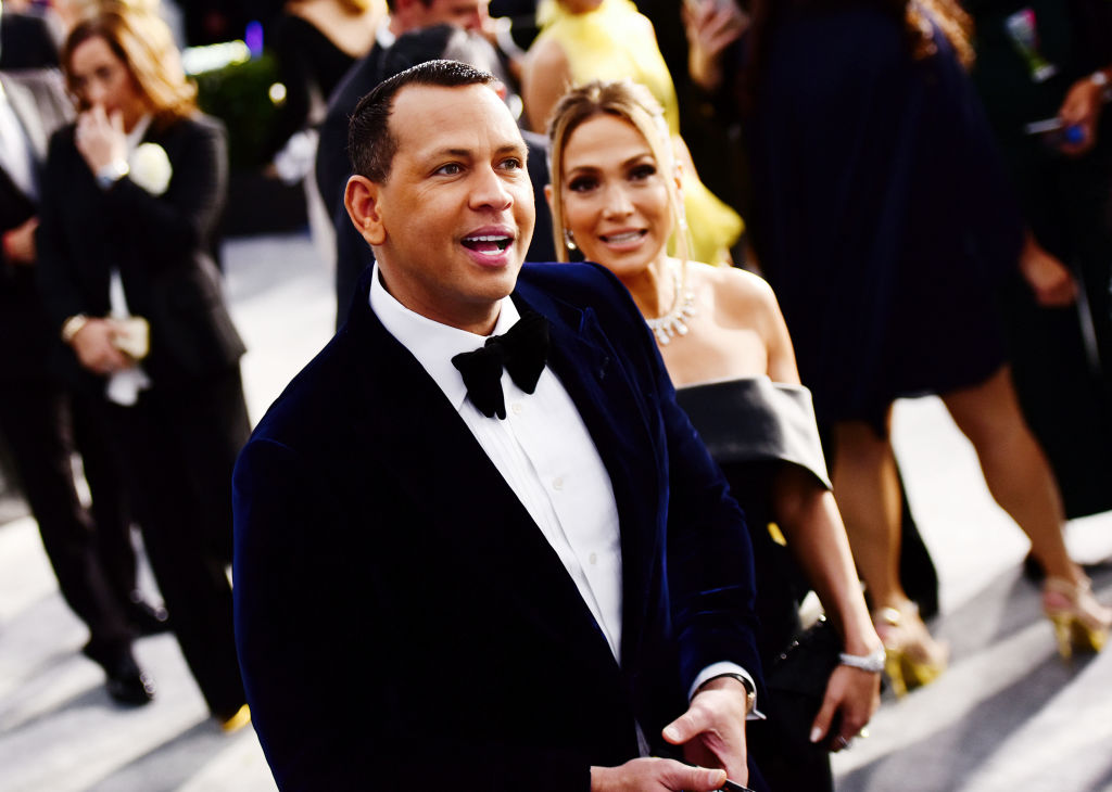 Alex Rodriguez and Jennifer Lopez attend the 2020 SAG Awards