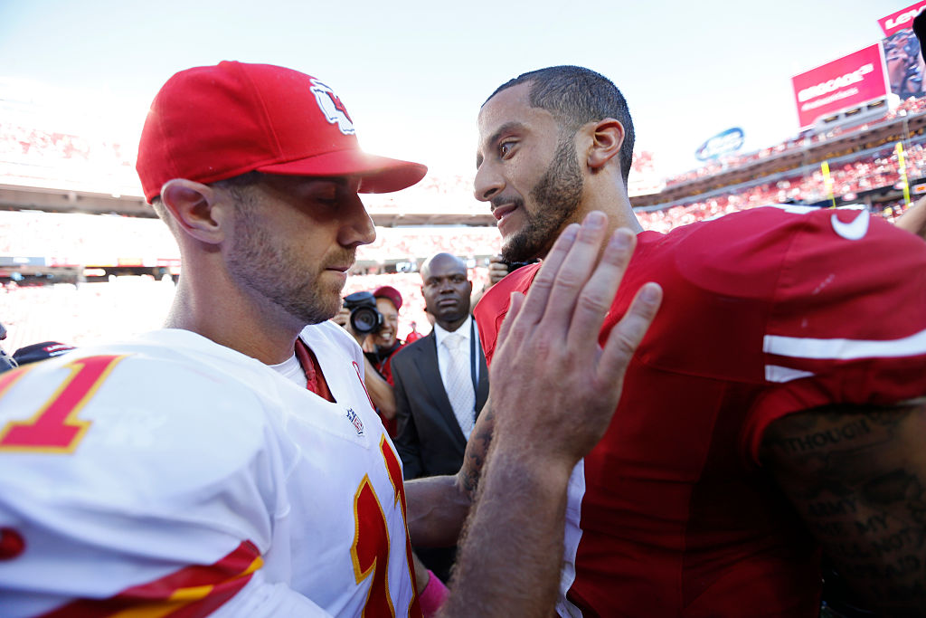 Colin Kaepernick and Alex Smith both had a lot of success for the San Francisco 49ers. Which quarterback has a higher net worth?