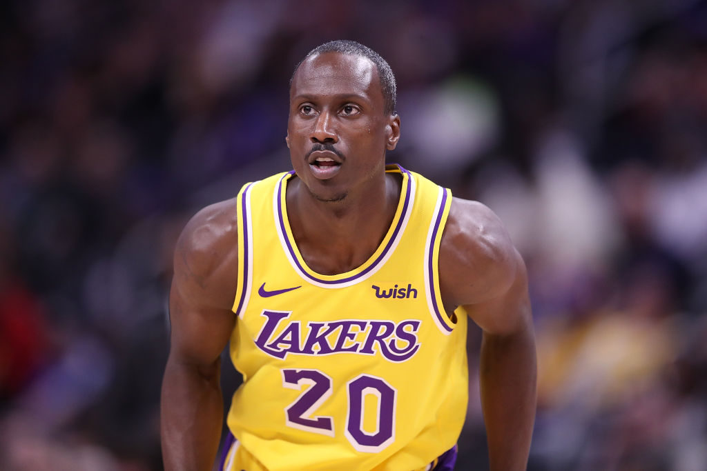 Andre Ingram of the Los Angeles Lakers in 2019