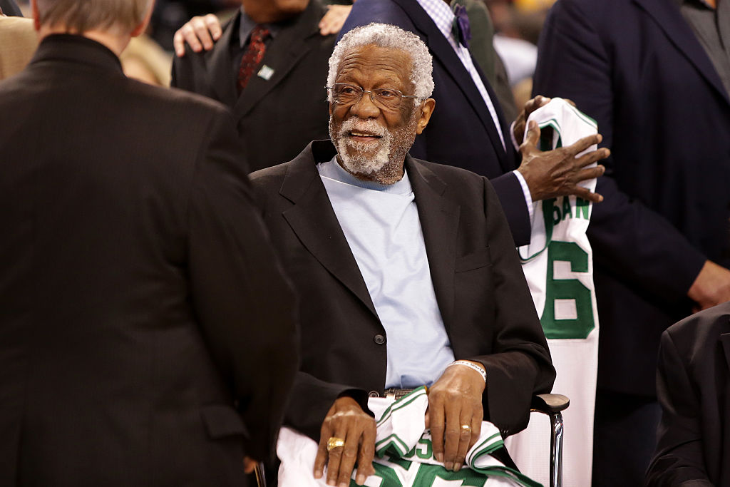 Bill Russell at a Boston Celtics game