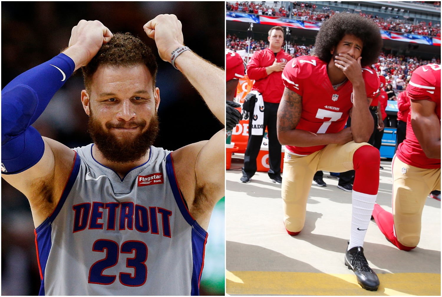 Blake Griffin and Colin Kaepernick each grew up facing racist comments because they looked different than their parents.