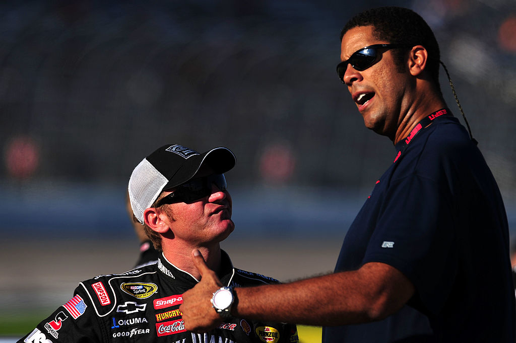 Cleveland Cavaliers legend Brad Daugherty (right) has been involved with NASCAR for over 20 years.