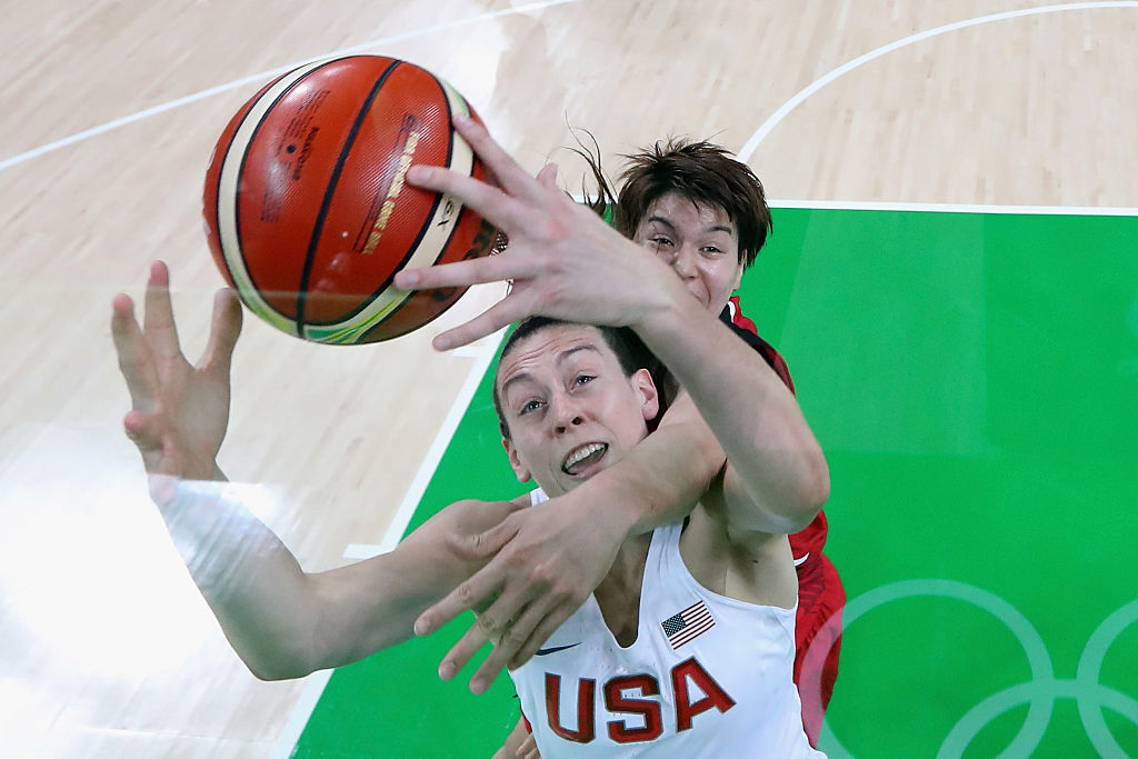 Breanna Stewart missed the 2019 WNBA season while recovering from an injury. | Phil Walter/Getty Images