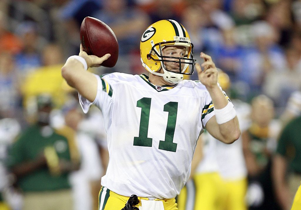 Brian Brohm had an opportunity to replace Brett Favre as the Packers' starting quarterback in 2008. The job eventually went to Aaron Rodgers.