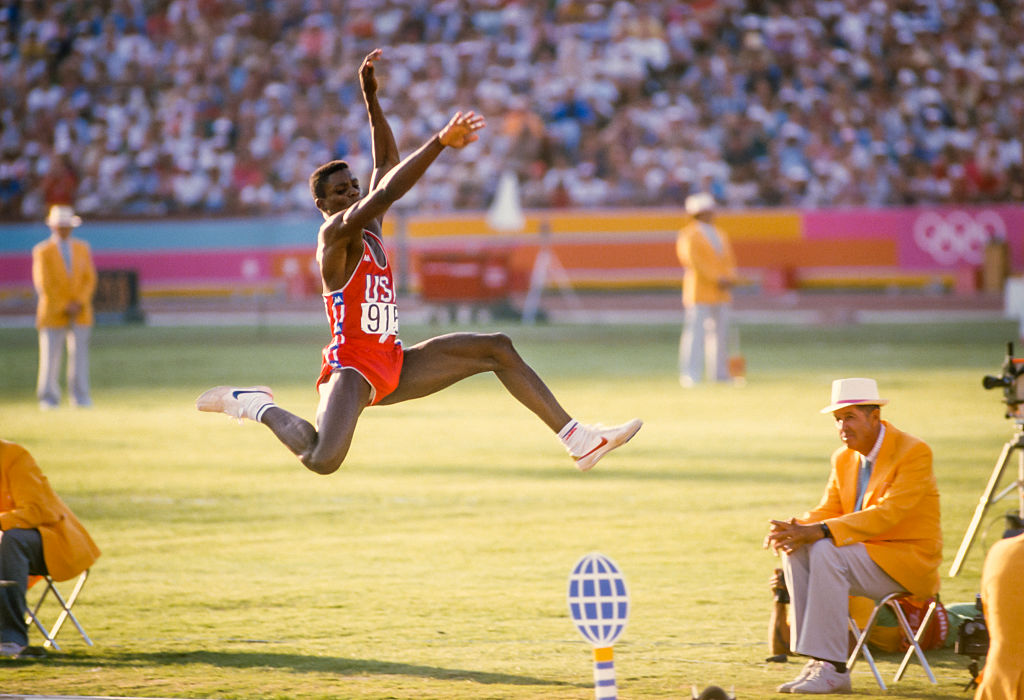 Carl Lewis won four gold medals at the 1984 Los Angeles Olympics. | David Madison/Getty Images