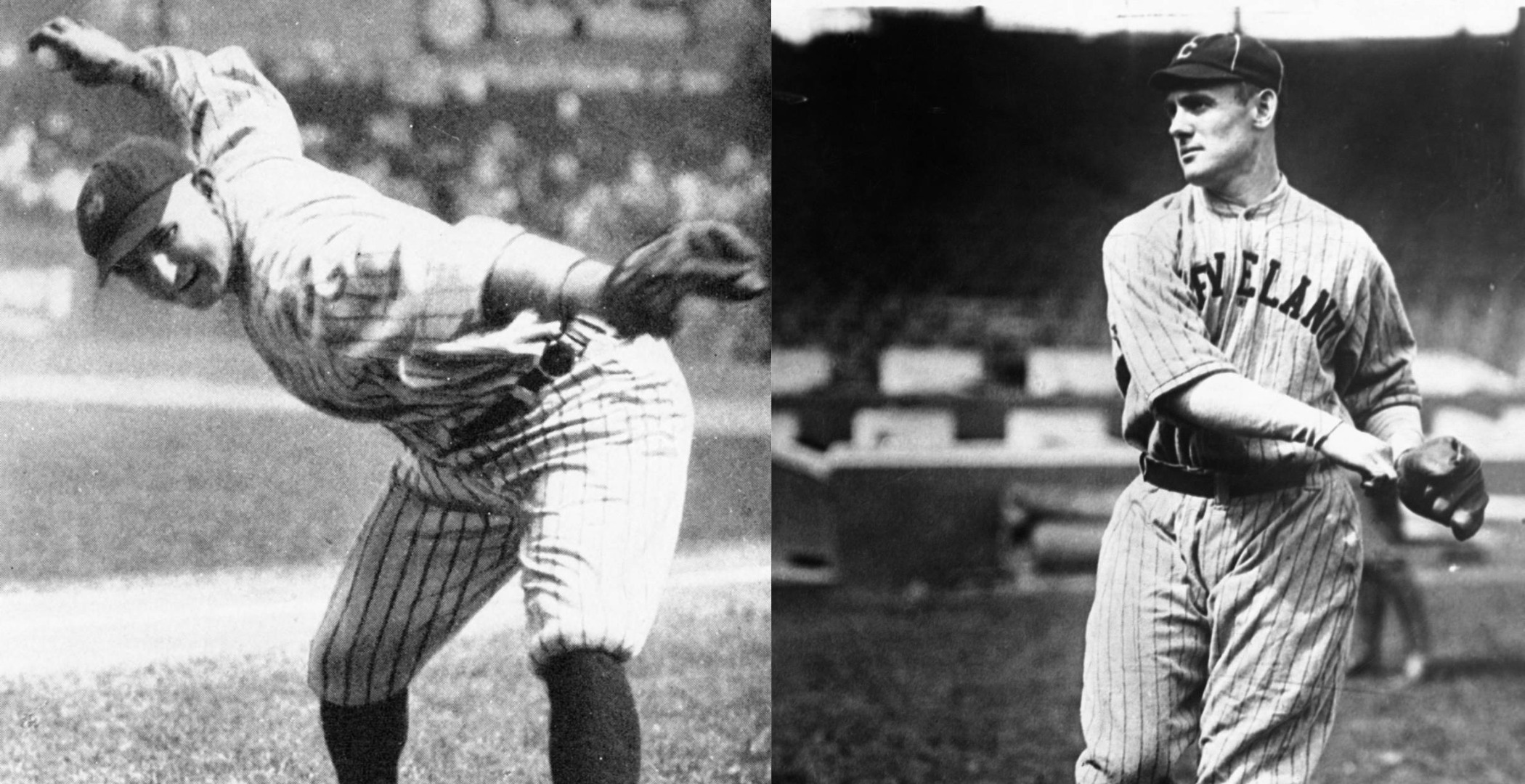 New York Yankees pitcher Carl Mays (L) said he didn't feel guilty for accidently killing Cleveland infielder Ray Chapman.