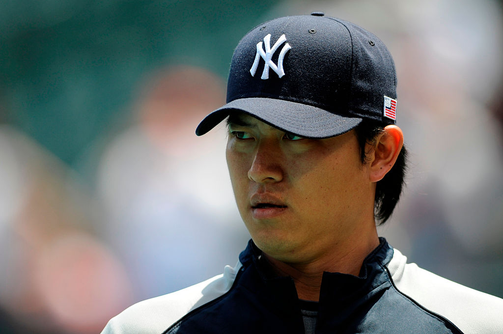 Former New York Yankees starting pitcher Chien-Ming Wang surely wishes the league had a universal DH when he played. Wang suffered a career-altering injury running the bases in 2008.