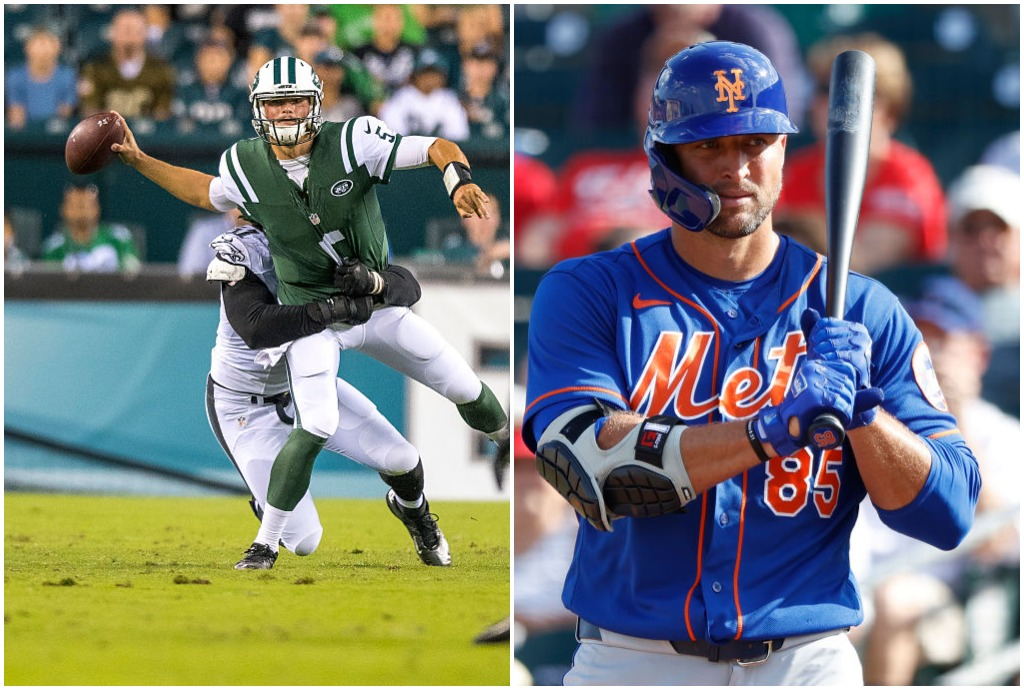 Christian Hackenberg will join Tim Tebow in going from an NFL draft bust to a baseball hopeful.