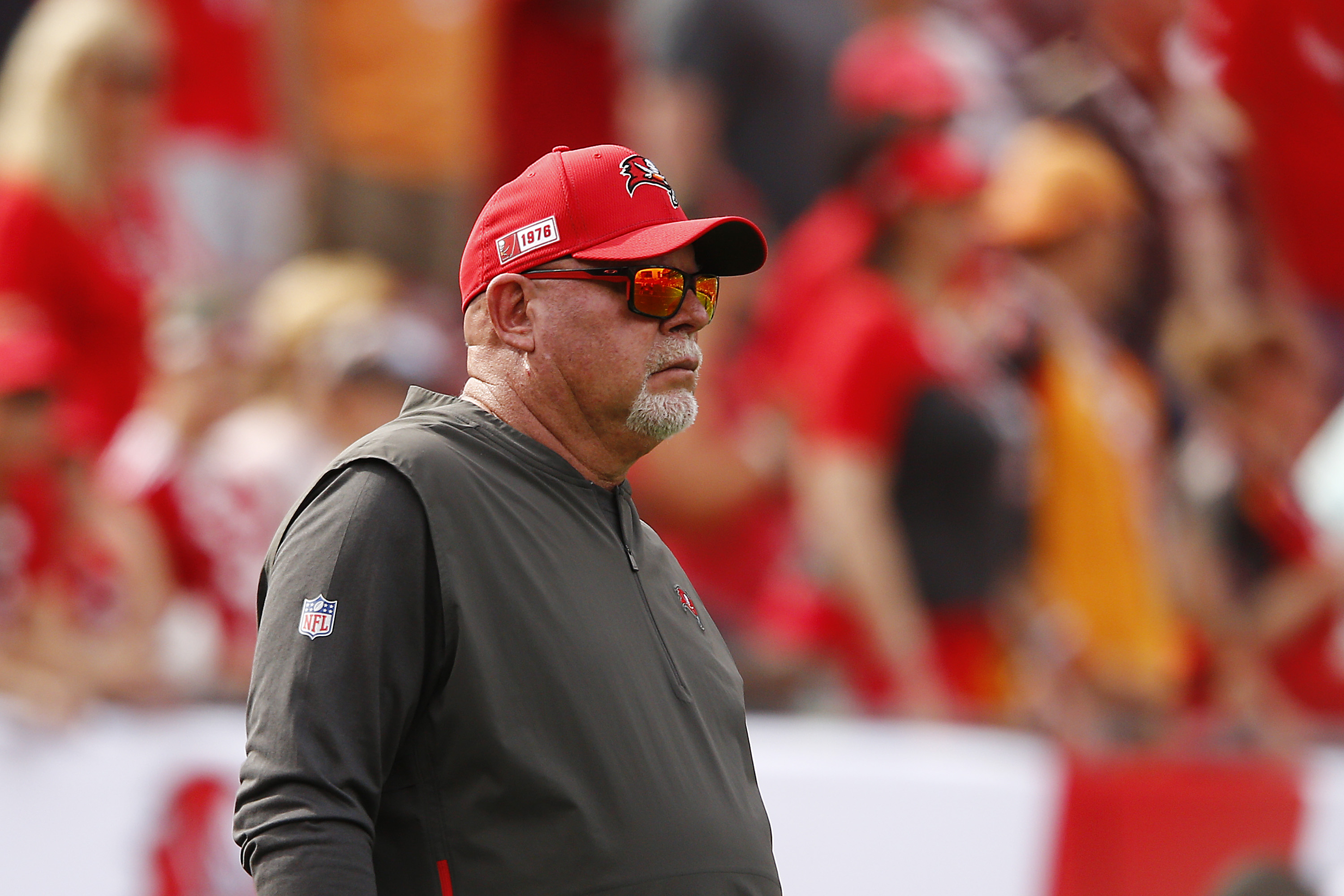 Head coach Bruce Arians of the Tampa Bay Buccaneers