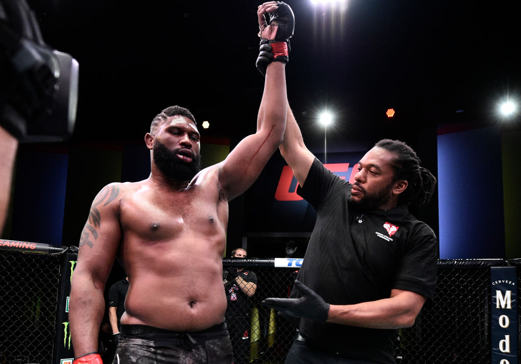 Curtis Blaydes didn't exactly ragdoll his opponent, but he still earned $180,000 on Saturday night.
