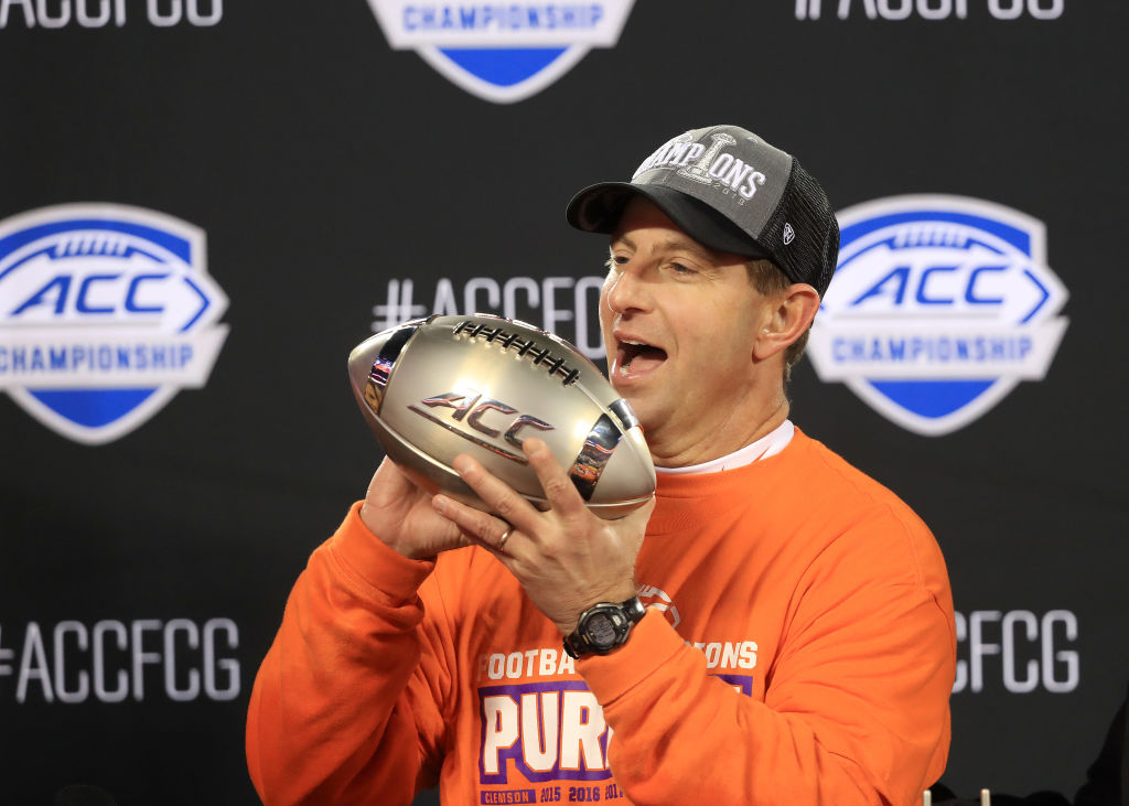 Dabo Swinney might be a college football coach, but he makes an NFL-level salary.