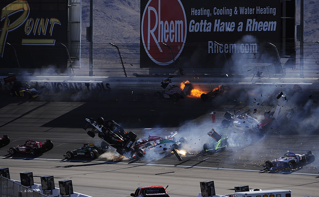 Dan Wheldon was killed in a massive crash at Las Vegas Motor Speedway in 2011. | Robert Laberge/Getty Images