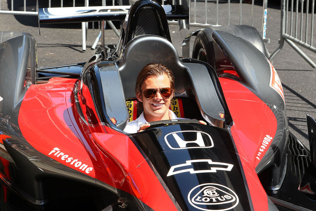 British driver Dan Wheldon won a pair of Indianapolis 500 championships. | Jeffrey Ufberg/WireImage
