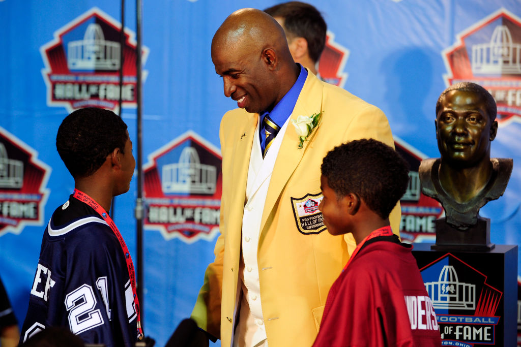 Deion Sanders has three sons and they all play football.