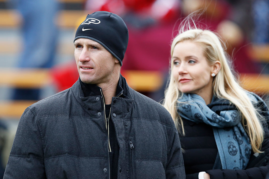 Drew Brees and his wife