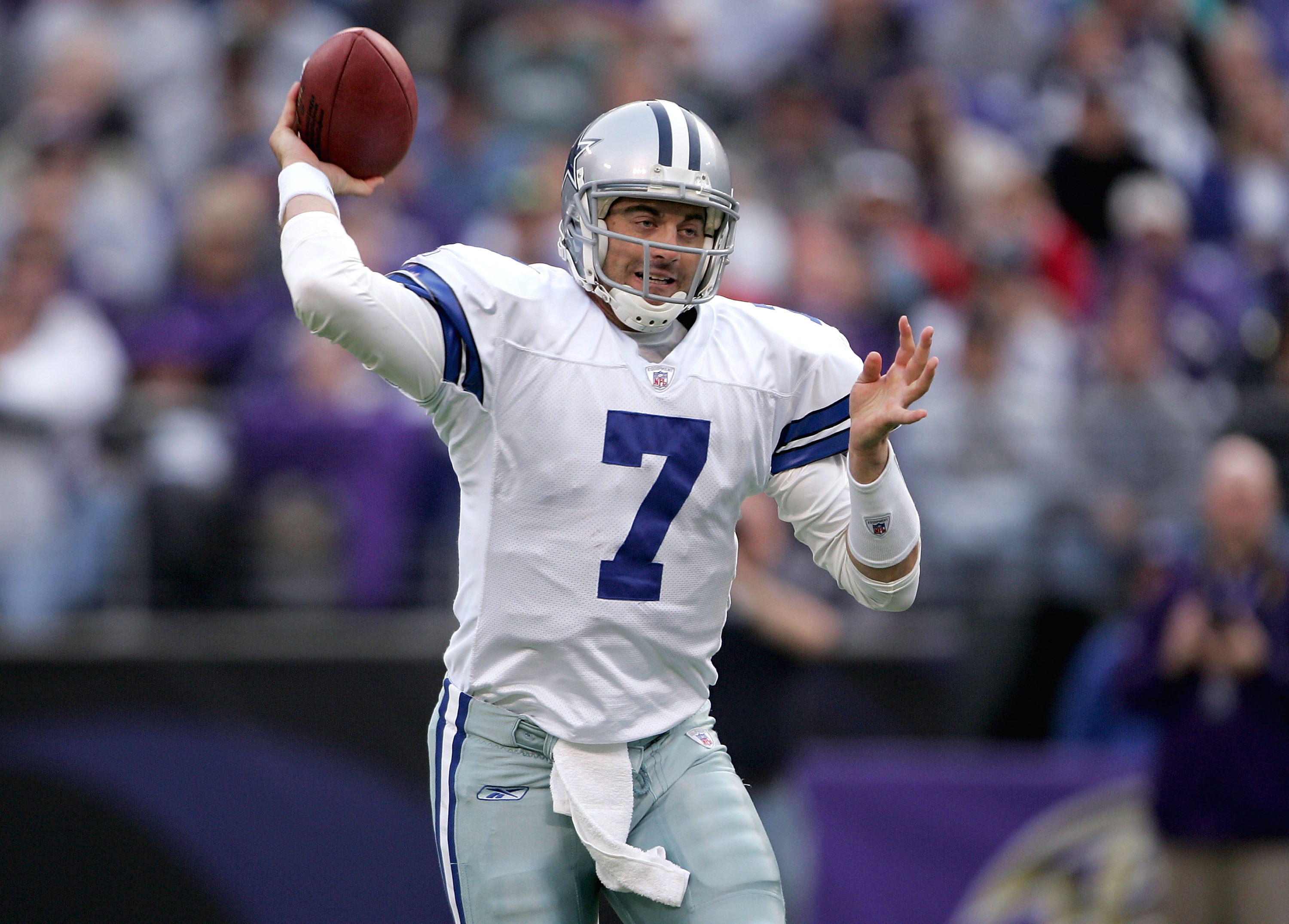 Drew Henson's path to a starting job with the Dallas Cowboys was blocked by Tony Romo. | Doug Pensinger/Getty Images