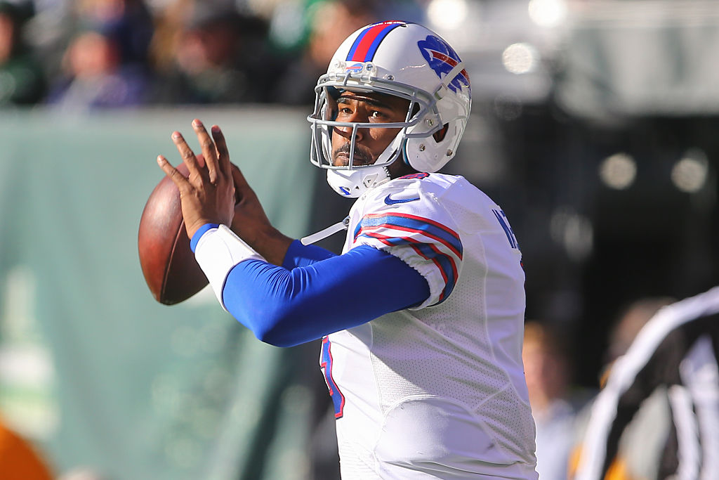 EJ Manuel playing a game for the Buffalo Bills