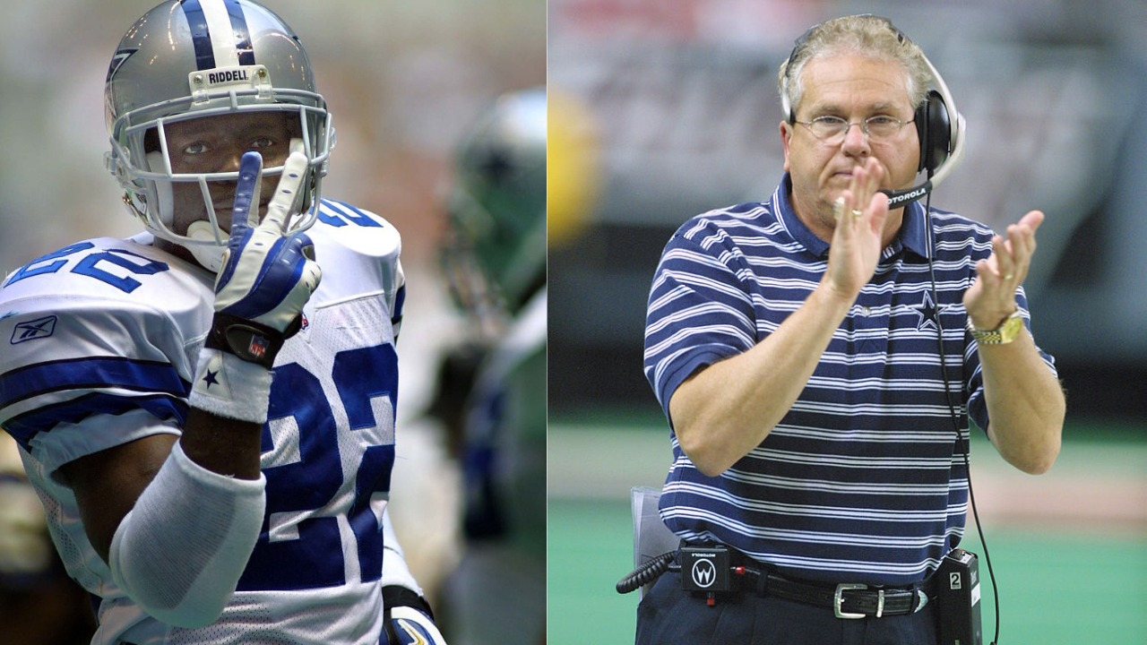 A media-related misunderstanding involving Cowboys legend Emmitt Smith (L) and coach Dave Campo helped speed up Smith's eventual departure.