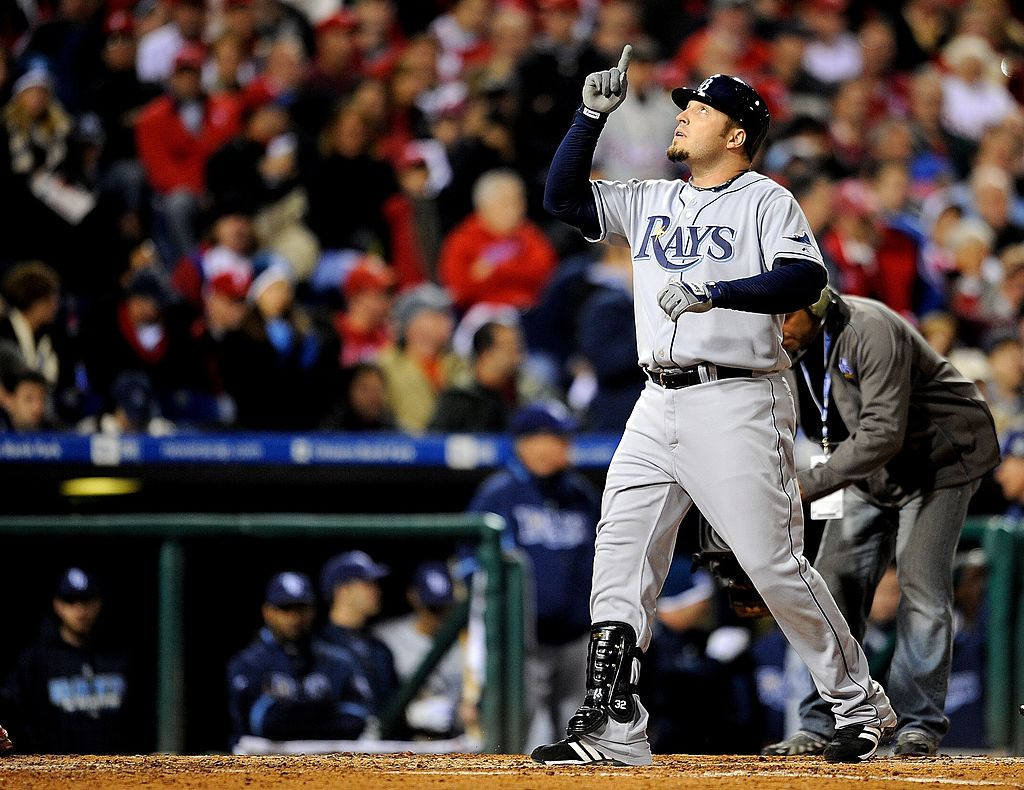 Former Tampa Bay Rays hitter Eric Hinske was recently reunited with a home run ball he hit in the 2008 World Series.