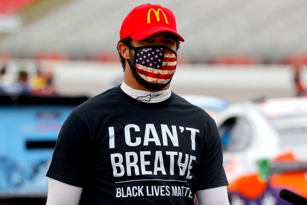 Bubba Wallace is taking a stand in the Black Lives Matter movement by giving his race car a new paint job for Wednesday night's race.