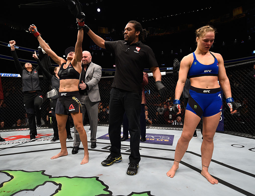 Amanda Nunes defeated Felicia Spencer at UFC 250 Saturday night, cementing her status as the best women's UFC fighter of all time.