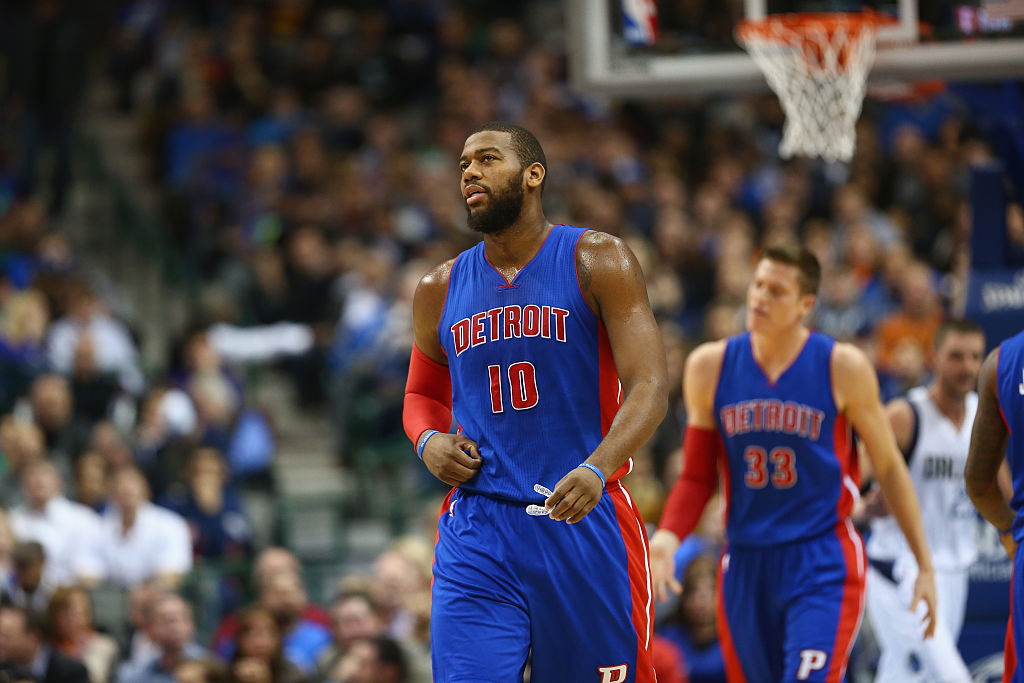 Greg Monroe of the Detroit Pistons