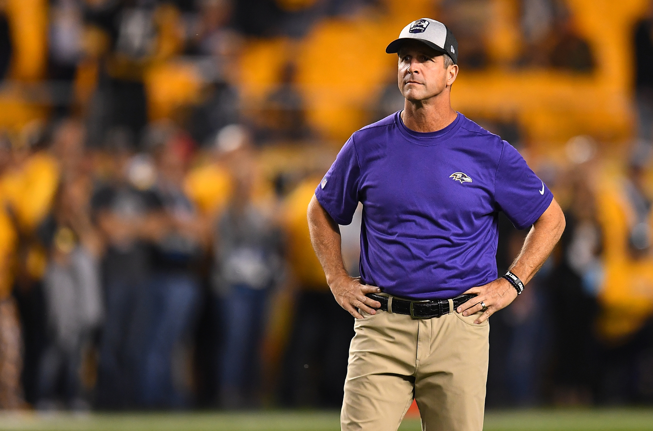 John Harbaugh is a fantastic football coach. Before his coaching career, though, he was roommates with wrestling star Brian Pillman.