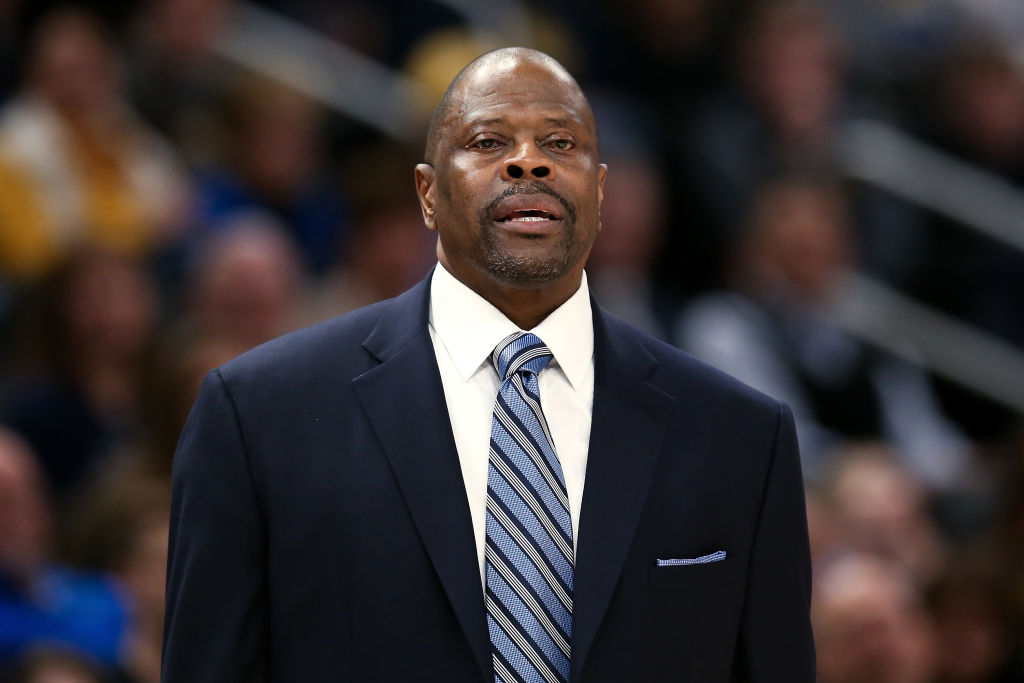 Head coach Patrick Ewing of the Georgetown Hoyas