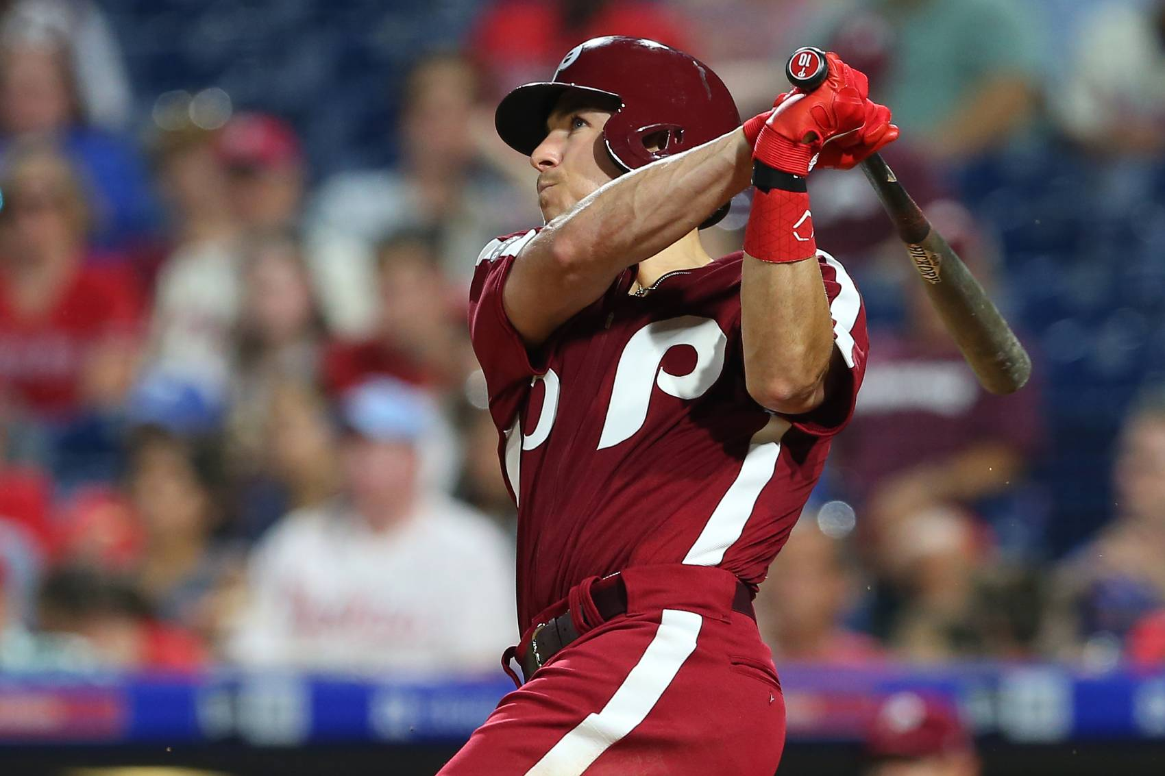 Philadelphia Phillies catcher J.T. Realmuto could lose over $100 million in free agency.