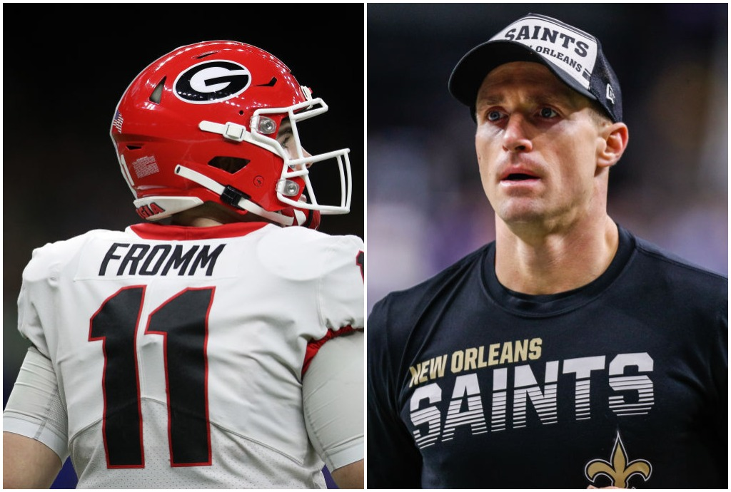 Jake Fromm had to pull a Drew Brees and issue an apology for his own reason on Thursday.