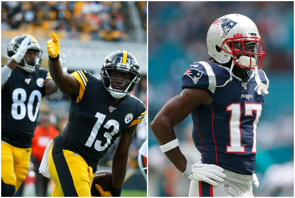 James Washington and Antonio Brown have much different ideas of how to stay in shape during the NFL offseason.