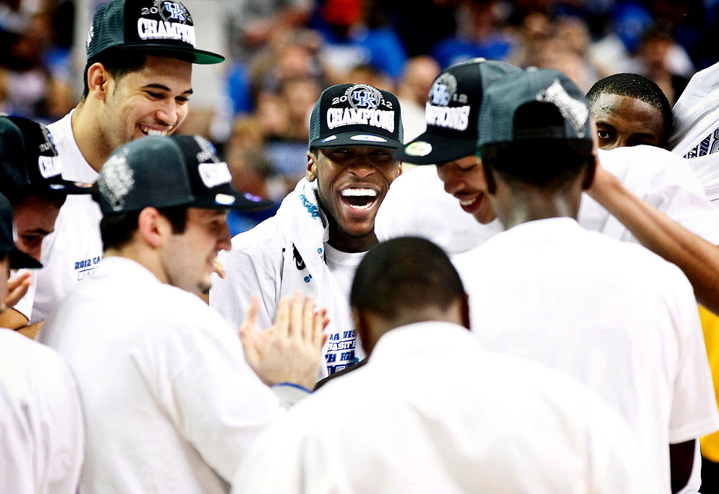 Kentucky Wildcats forward Michael Kidd-Gilchrist smiles after winning the NCAA championship
