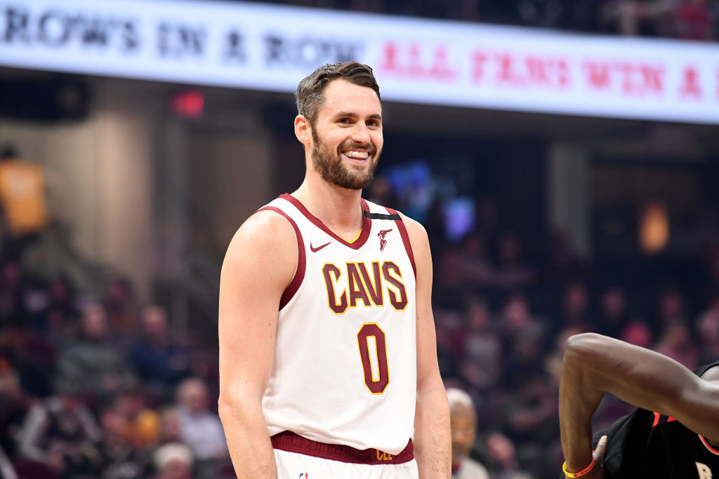 Kevin Love of the Cleveland Cavaliers