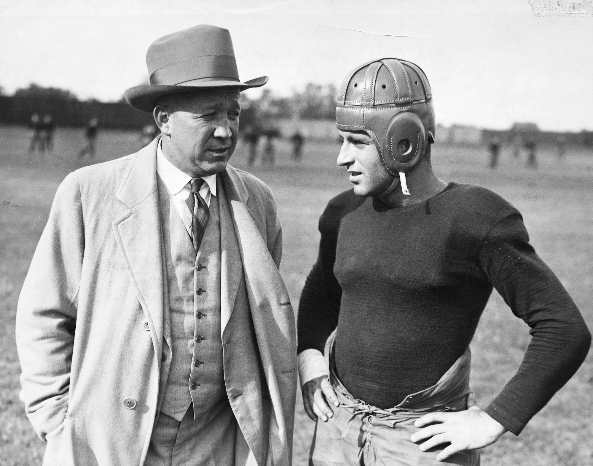 Notre Dame football coach Knute Rockne tragically died in a plane crash.