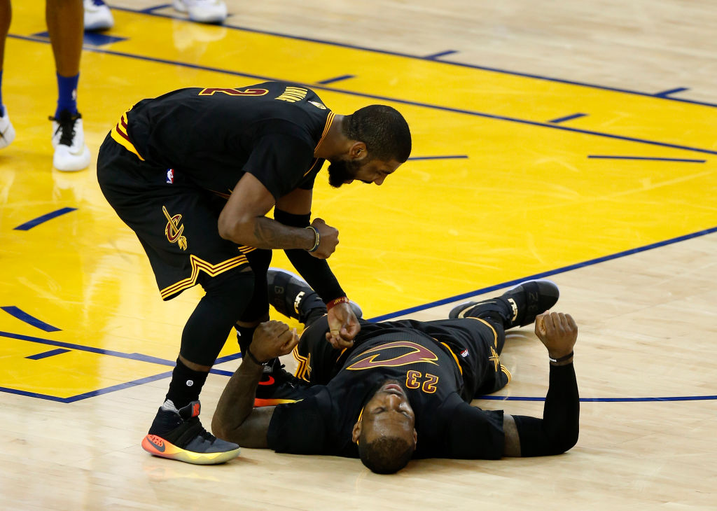 LeBron James and Kyrie Irving made history in Game 5 of the 2016 Finals. Their performances, however, covered up Kevin Love's awful one.