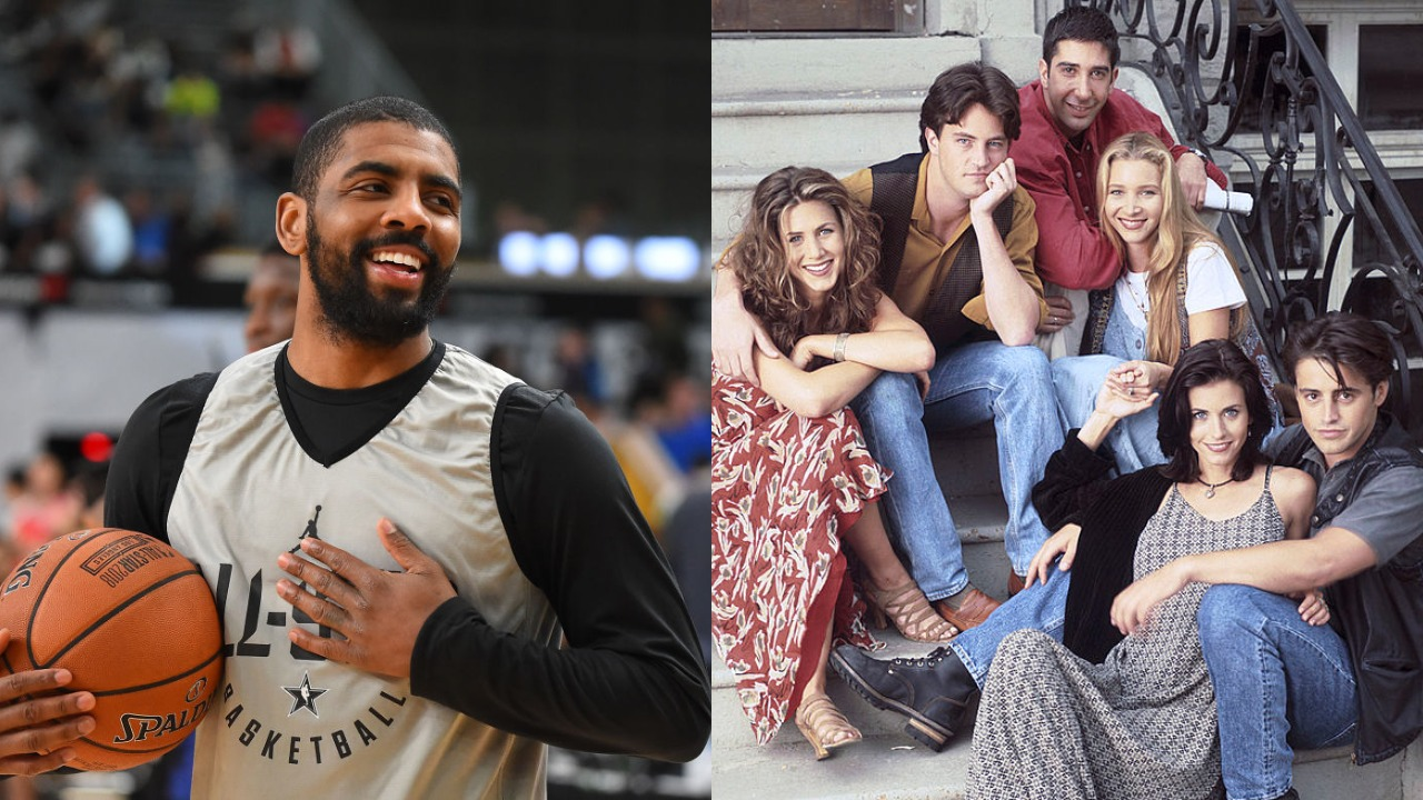 Fans have noticed in the past that NBA star Kyrie Irving has the 'Friends' logo tattooed on his arm. Here is why.