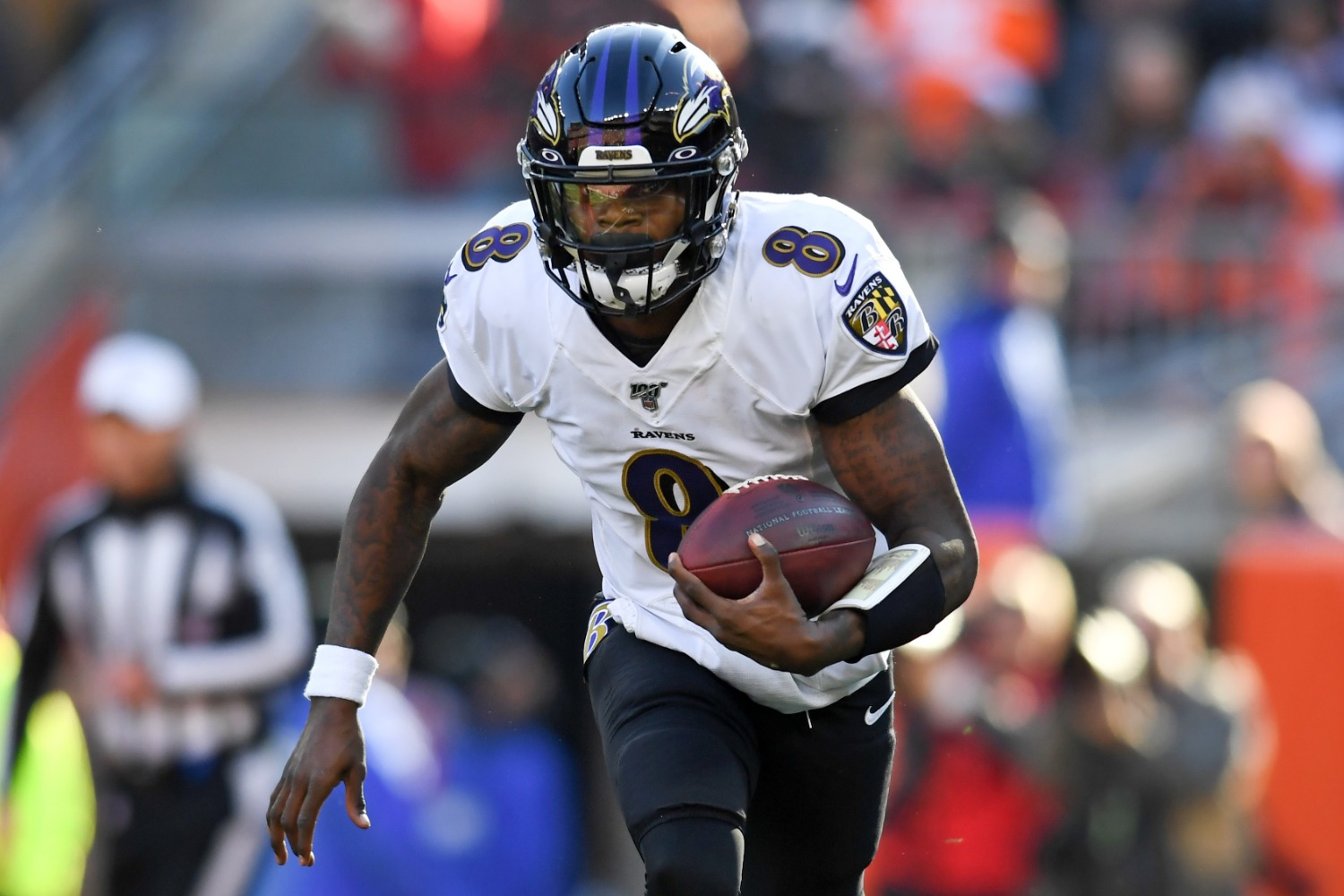 Lamar Jackson and his Ravens teammates must pass a brutal conditioning test consisting of 900 yards of sprints.