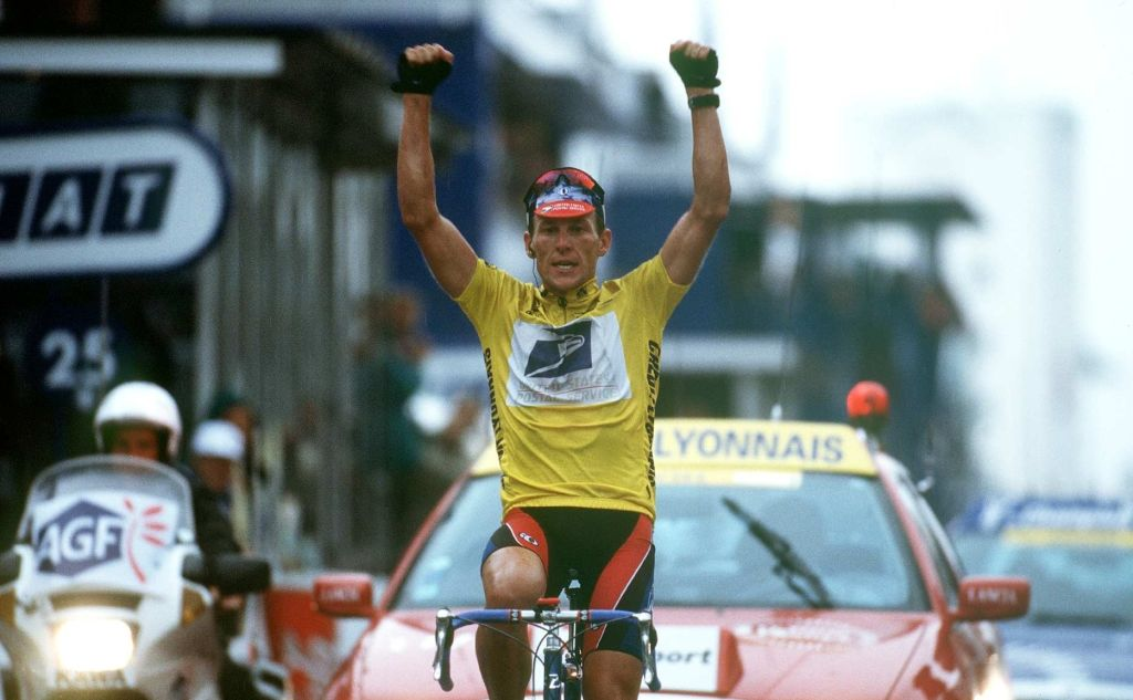 Lance Armstrong during 1999's Tour de France