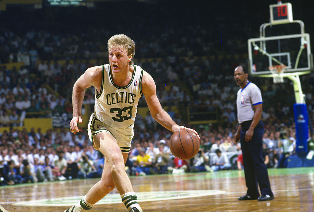 Larry Bird wore 33 for the Boston Celtics, inspiring a man to request a 33-year prison sentence.