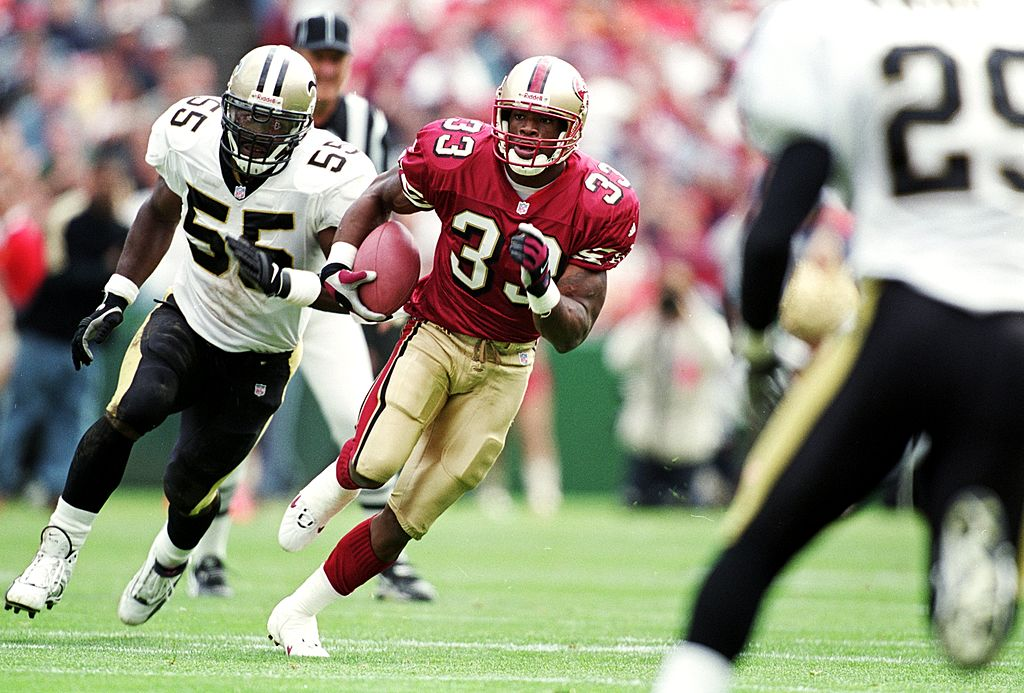 Lawrence Phillips of the San Francisco 49ers