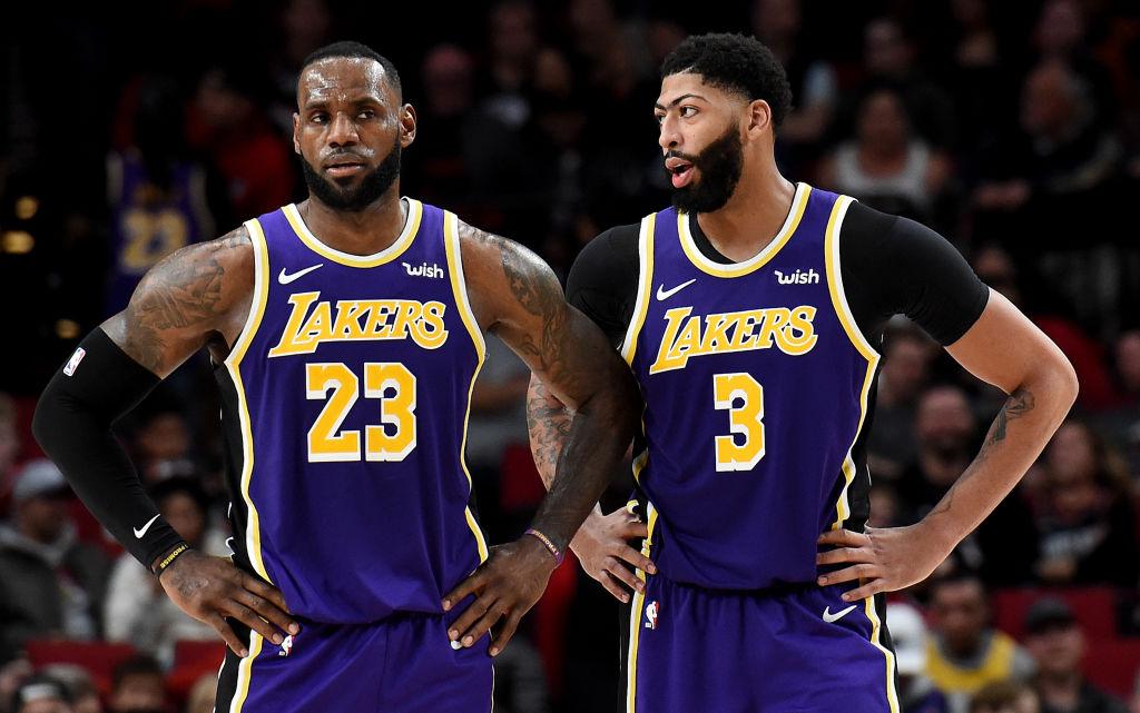 Lakers LeBron James and Anthony Davis